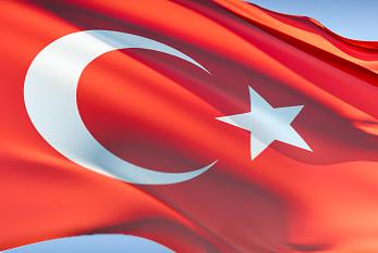 Türkische Flagge.