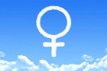 Das Venussymbol - es steht in der Gesellschaft als Gender-Symbol für Weiblichkeit und Frau.